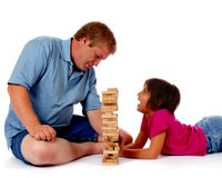 Challenging Dad Royalty Free Stock Image