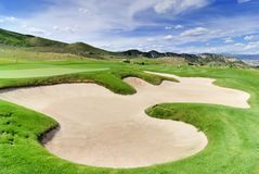 Challenging golf course royalty free stock images