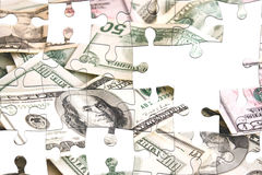 Challenging Money Puzzle Stock Photography