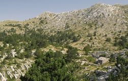 Challet in Biokovo above Makarska in Croatia Royalty Free Stock Images