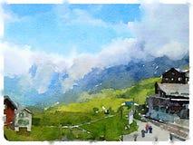 Challet de DW en las montañas 1 fotografía de archivo libre de regalías