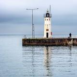 Chalmers latarnia morska na Anstruther molu, Szkocja zdjęcie royalty free