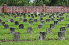 Chalmette国家公墓 库存照片