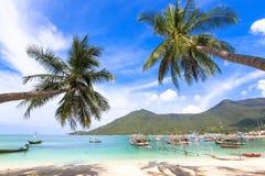 Chaloklum海滩酸值Phangan 免版税库存图片