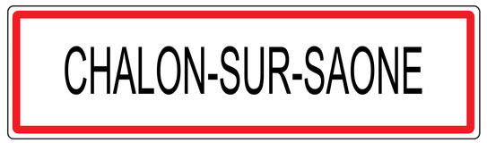 Chalon sur Saone city traffic sign illustration in France Royalty Free Stock Images