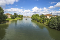 Chalon sur Saone, France. Chalon sur Saone is a commune in the Saône-et-Loire department in the region of Bourgogne-Franche-Comté in eastern France Royalty Free Stock Images