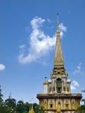 Chalong de la pagoda del templo, ciudad de Puket, Tailandia, Fotografía de archivo libre de regalías