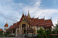 Chalong tempel arkivfoton