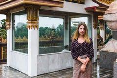 Chalong tempel i den Phuket ön, Thailand royaltyfria foton