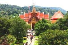 Chalong tempel i Phuket Thailand arkivbilder