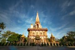 Chalong tempel i Phuket Thailand Arkivfoto