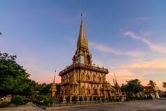Chalong tempel Phuket arkivfoto