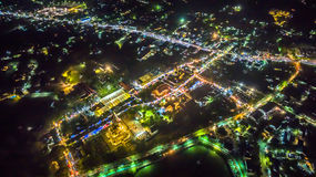 Chalong temple has celebrating Annual fair at night Royalty Free Stock Photo