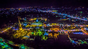Chalong temple has celebrating Annual fair at night Stock Image