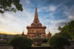 Chalong temple  in Phuket Thailand Royalty Free Stock Images