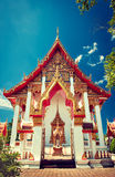 Chalong Temple in Phuket. Chalong Temple in Phuket, Thailand.Traditional Thai architecture Stock Photo
