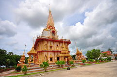 Chalong Temple in Thailand Stock Photo