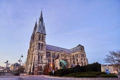 Chalons en-Champagne - domkyrka St Etienne arkivfoton