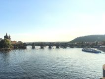 Chalres-Brücke, Tschechische Republik Stockbild
