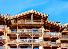 Chalret in Switzerland resort Verbier. For background Stock Photo
