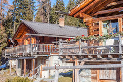 Chalret in Switzerland resort Verbier Stock Photography