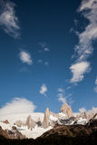 Chalten and Fitz Roy mountains Stock Photos