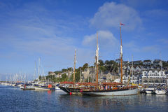 Chalutier Brixham Devon de vigilance photo libre de droits