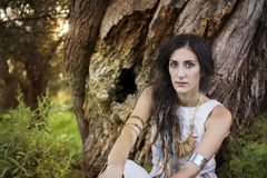 Chamán gitano Woman Imagenes de archivo