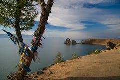 Chamán Rock en la isla de Olkhon Imagen de archivo