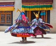 Cham Dance in Lamayuru Gompa in Ladakh, India Royalty Free Stock Photo