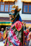 Cham Dance in Lamayuru Gompa in Ladakh, North India Royalty Free Stock Photos