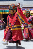 Cham Dance in Lamayuru Gompa in Ladakh, North India Royalty Free Stock Images