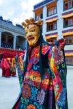 Cham Dance in Lamayuru Gompa in Ladakh, North India Royalty Free Stock Photography