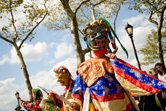 Cham dancers. Perfroming in New York Royalty Free Stock Photography