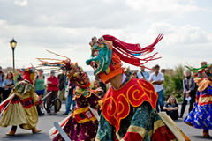 Cham dancers. Perfroming in New York Stock Photography