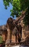 Cham góruje po Nagar Sławny pałac w Nhatrang, Wietnam Obraz Stock