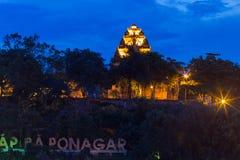 Cham góruje po Nagar Sławny pałac w Nhatrang, Wietnam Zdjęcia Stock