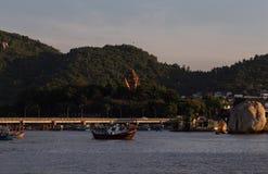 Cham góruje po Nagar Sławny pałac w Nhatrang, Wietnam Fotografia Stock