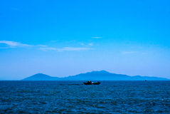 Cham Island HoiAn. The Cham Islands (Vietnamese: Cù lao Chàm) constitute a group of 8 small islands of Quảng Nam, which form a part of the Cu Lao Cham Marine Royalty Free Stock Images