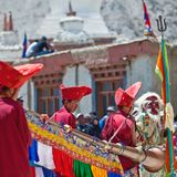 Cham mystery, Ladakh Royalty Free Stock Images