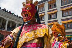 Cham Mystery in Ladakh, North India Royalty Free Stock Photography