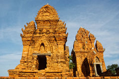Cham temple tower in Vietnam  Royalty Free Stock Image