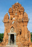 Cham temple tower in Vietnam Royalty Free Stock Photos