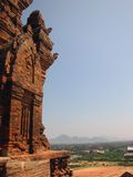Cham tower blue sky vietnam Royalty Free Stock Image