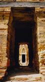 Cham tower doorway central vietnam Royalty Free Stock Photos