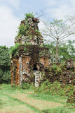 Cham tower at My Son, Quang Nam, Viet nam Stock Photo