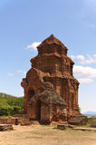 Cham Tower Poshanu in Vietnam Stock Photo