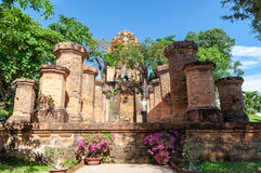 Cham towers of Po Nagar. Famous palace in Nhatrang, Vietnam Royalty Free Stock Photography