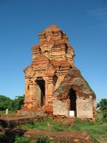 Cham Towers Po sha Nu. Vietnam.Monument Cham architecture and sculptures Stock Image
