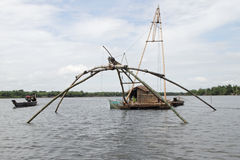 Cham Traditional Fishing Boat royalty free stock image